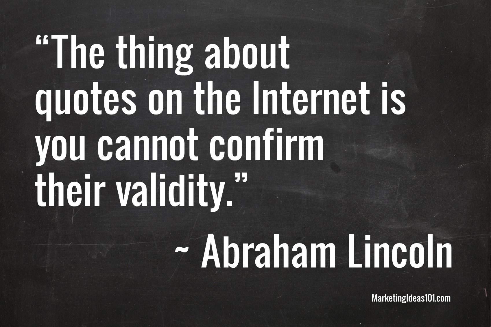 Marketing Ideas Quotes Lincoln