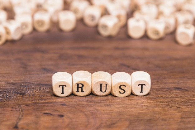 Picture-of-the-word -trust-written